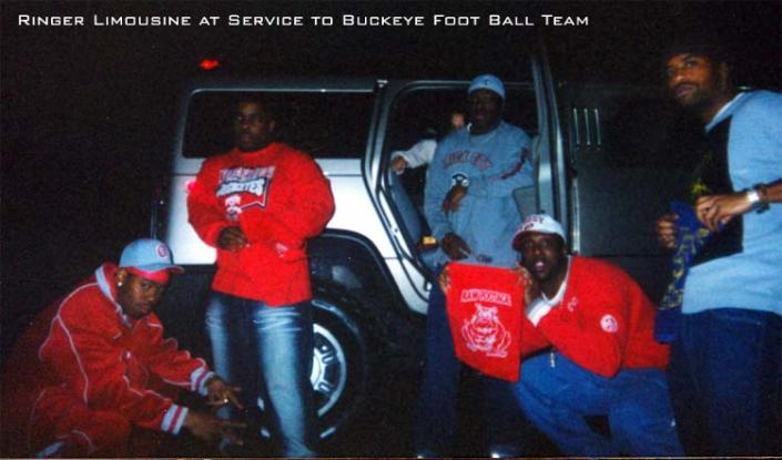 [Image: Ringer Limousine at service to Buckeye football team.]